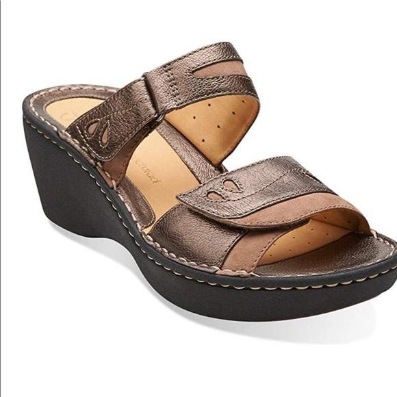 17265d6e735 Clarks Shoes - Clarks Unstructured Platform Sandals Women s 8.5